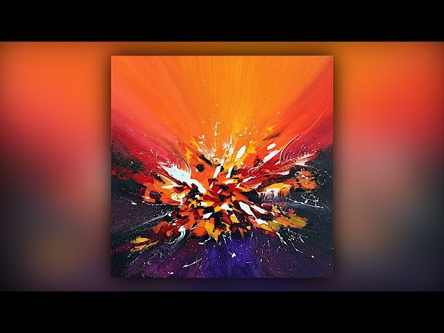 Colorful Abstract Painting / Acrylic Paint / Palette Knife Technique / Demo #040