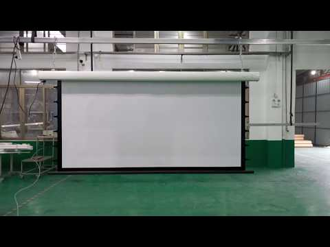 curved-iron-motorized-projection-screen---xiong-yun-audio-visual-equipment