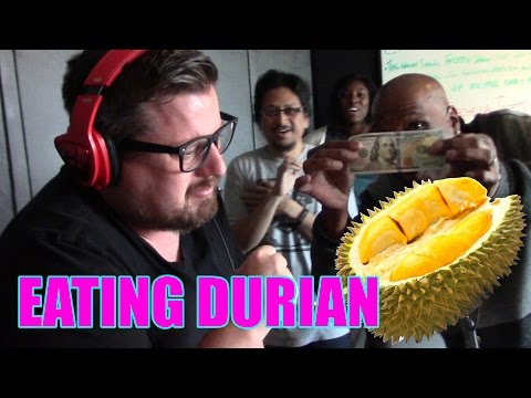Menace Gags on Durian Stink Fruit