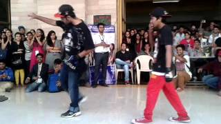 my b boying battle @ THAKUR COLLAGE
