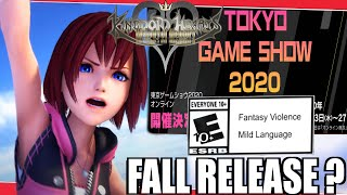 Kingdom Hearts Melody Of Memory: Rating, Tgs Online, & Release ?