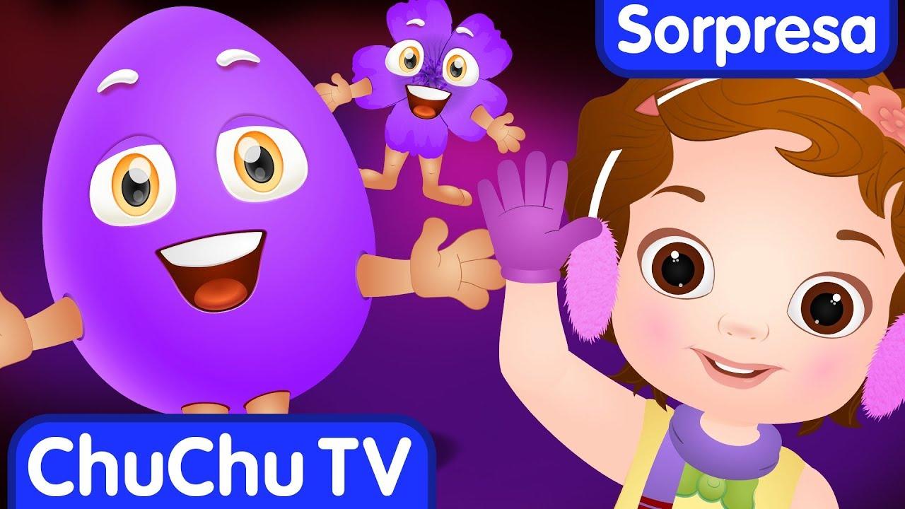 Aprende el Color MORADO con Huevo Sorpresa | ChuChu TV Sorpresa