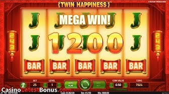 Twin Happiness slot from NetEnt (FREESPINS, BONUS, BIGWIN, SUPERBIGWIN, MEGAWIN)