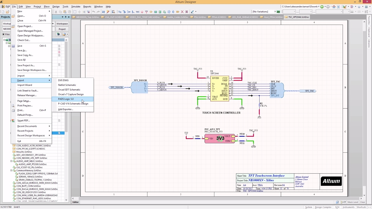 PADS® Logic Exporter - Features:ADSCvid