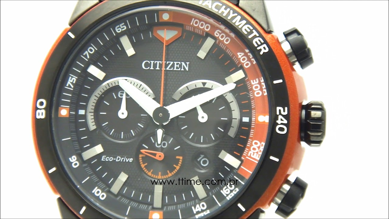 bef51e9825c Relógio Citizen Eco Drive Orange Rubber TZ30786J by TTIME RELÓGIOS