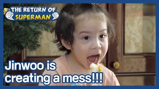 Jinwoo is creating a mess!!! (The Return of Superman) | KBS WORLD TV 210110