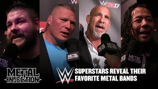 WWE Superstars Reveal Favorite Metal Bands 2016 | Metal Injection