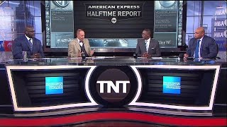 Warriors vs Jazz Game 1 Halftime Report NBA Playoffs   Inside The NBA   May 2, 2017