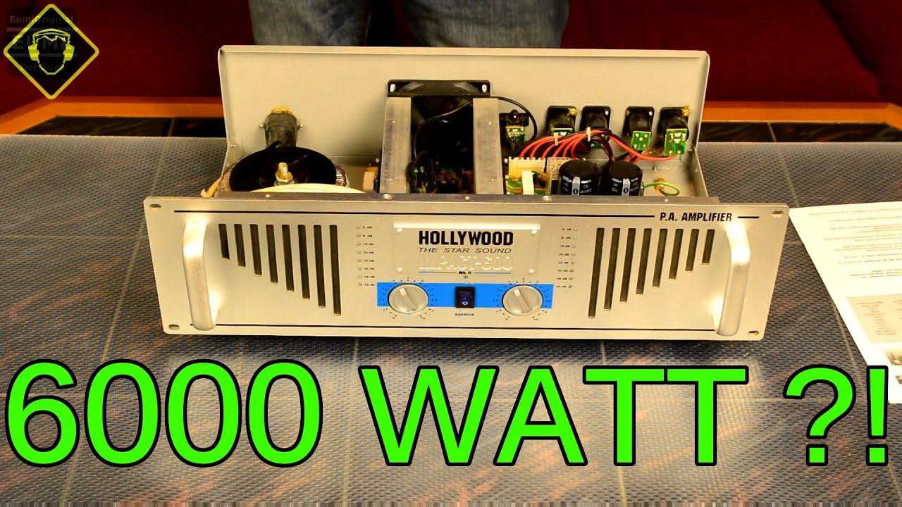 Wtf 6000 Watt Hollywood Impact 600 Bei Euml Unboxing Pa Endstufe