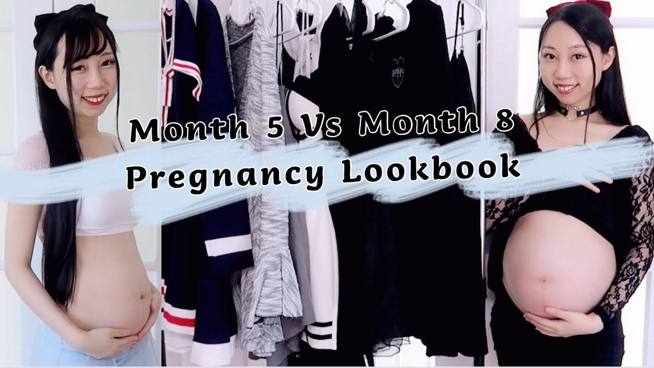 Month 5 Vs Month 8 Pregnancy Lookbook!