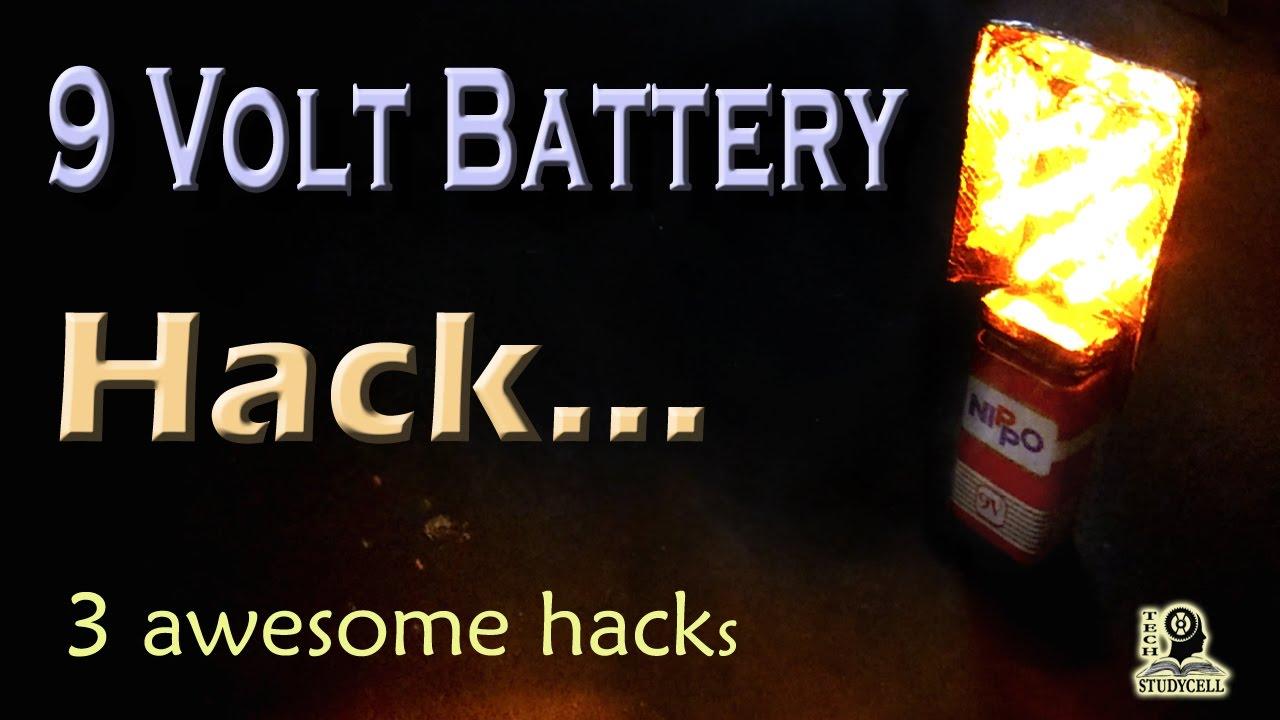 Best Life Hacks From 9 Volt Battery V Video