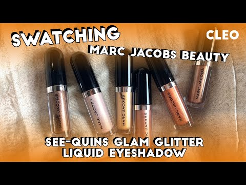Marc Jacobs See-Quins Glam Glitter Eyeshadows Up Close! | CLEO Beauty School | CLEO Malaysia