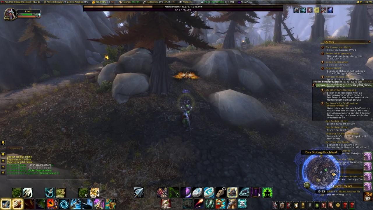 World Quest World Of Warcraft Wow Majestätisches Urhorn Youtube