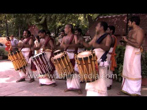 Chenda melam musicians put up a great show during Onam festival