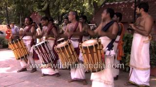Chenda melam musicians put up a great show during Onam festival