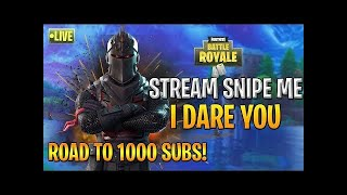 Fortnite Live/Console Player/High Kill Games/KILL 4 SHOUT OUT) PS4/Sub/giveaway/Open Lobby Squads/