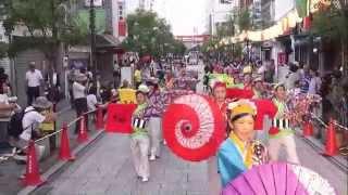 いよさこい!!華魅、いろは丸YOSAKOIでの、宮通り練り歩き演舞です。石畳...