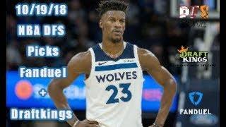 10/19/18 NBA DFS Picks Fanduel + Draftkings