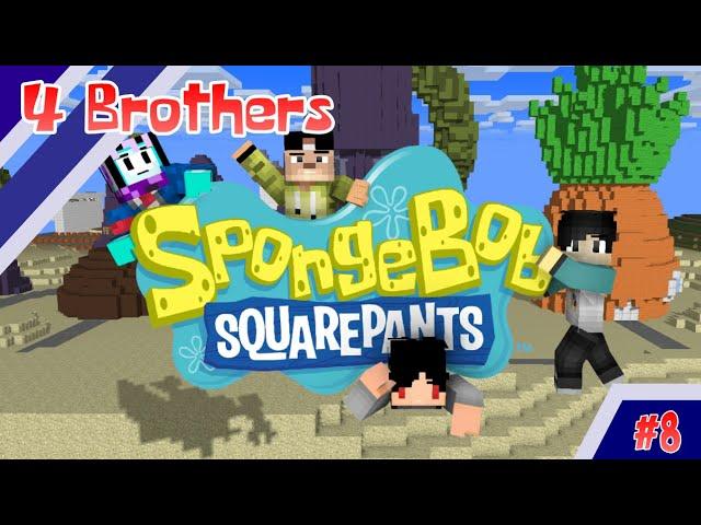 4 Brothers Jadi Spongebob and Friends - Minecraft Animation Indonesia #7