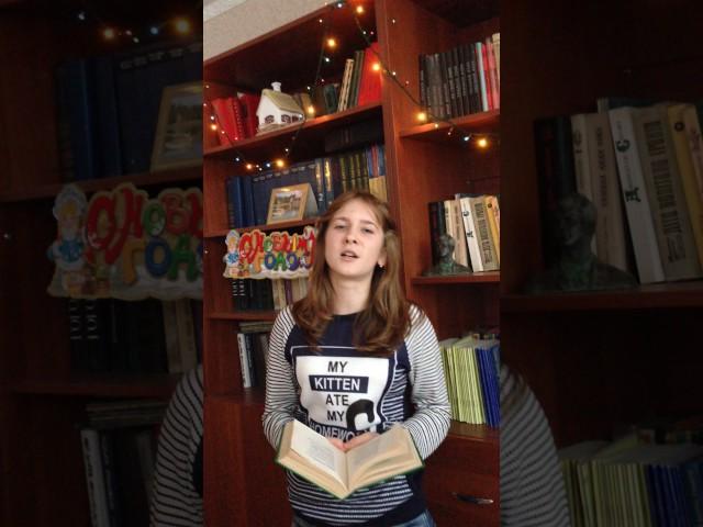Изображение предпросмотра прочтения – СабироваВиктория читает произведение «Мне осталась одна забава…» С.А.Есенина