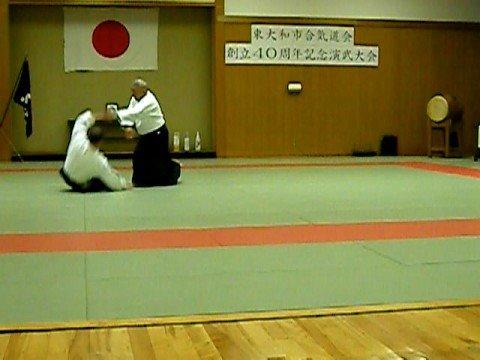 Yasuo Kobayashi Shihan and Black Sensei (Uke)