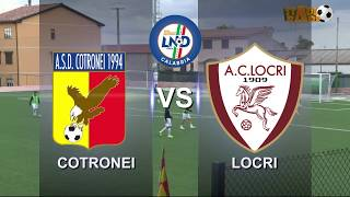 Cotronei - Locri 1- 3 gara integrale