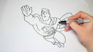 Easy How To Draw Superman For Kids