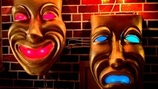 Drama Masks Project: Renovation from Plastic to Precious Gold