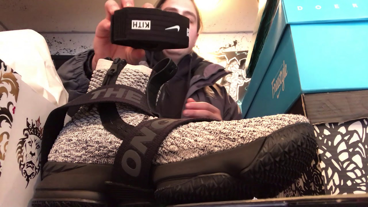 new styles 823bb 56326 Nike Lebron James XV Lifestyle Kith Concrete review and look