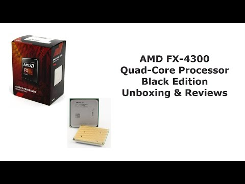 Amd Fx 4300 Quad Core Processor Unboxing And Reviews Youtube