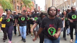 South African activists protest against 'white monopoly capital'