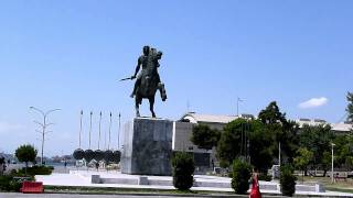 Saloniki - Statue of Alexander the Great - Harbour - 31-07-2011 - 10