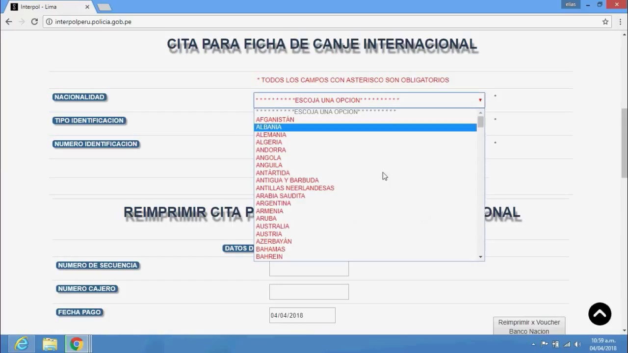 Requisitos para solicitar la Ficha de Canje Internacional