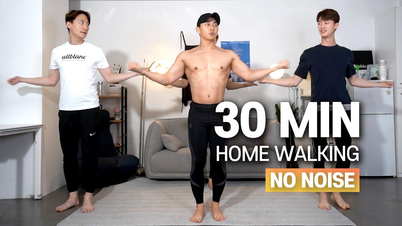 e.8  층간소음 없이 30분 전신 걷기홈트 (땀범벅💦!)ㅣ30min Full-Body Home Walking (SWEAT💦!) // No Noise & Low Impact