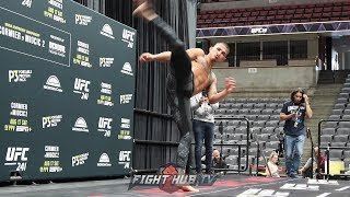 ANTHONY PETTIS SHOWS OFF INSANE STRIKING AT UFC 241 OPEN WORKOUTS