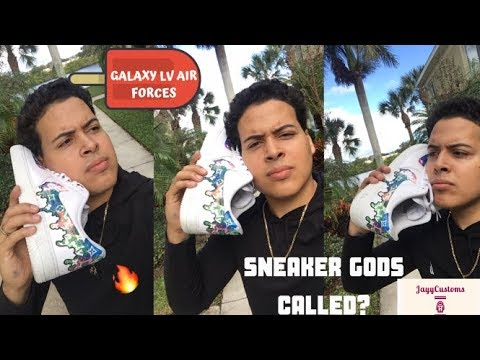 Sneaker Gods Called ME?? LV X Galaxy Air Force 1 Customs