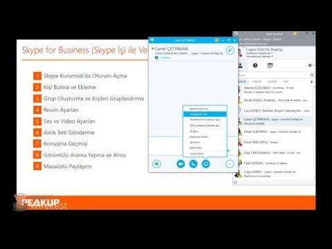 Skype for Business Online ile Her Yerde İletişim - Salı Eğitimleri