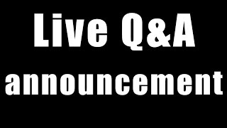Live Q&A (with Jeremy and Kriss)