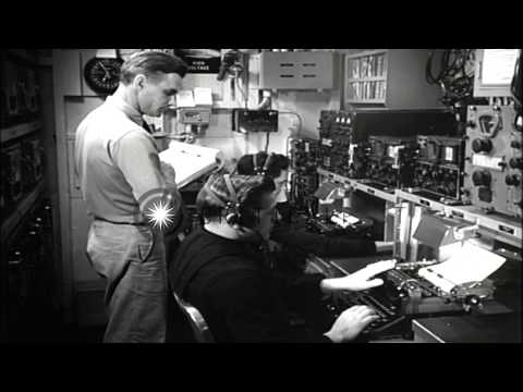 The engineering room and Combat Information Center aboard USS Saufley underway in...HD Stock Footage