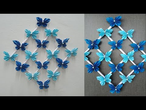 Paper Butterfly Wall Hanging - DIY Easy Hanging Paper Butterfly - Wall Decoration ideas