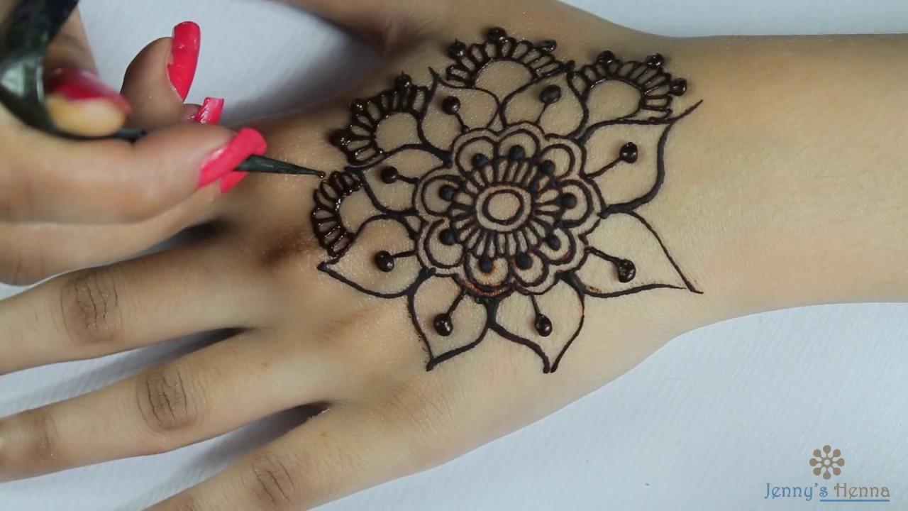 Easy Floral Mandala Henna Design Flower Mandala Mehndi Youtube