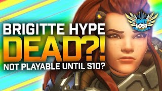 Brigitte HYPE DESTROYED!? Not Playable in comp until May - Overwatch