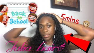 5 minutes Quick back to school hair styles  ft Julia hair