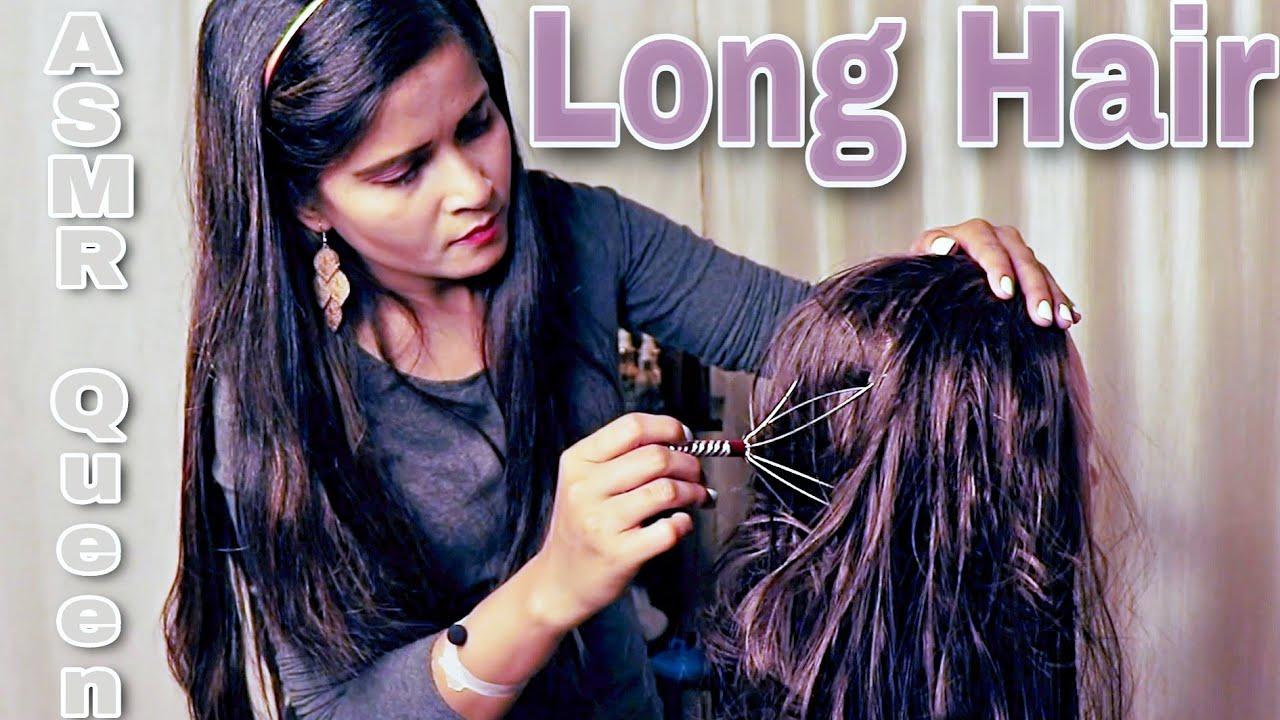 BoKoMo Sleepy long Hair rubbing | Head massage with Cosmic lady Asmr - anxiety stress relief