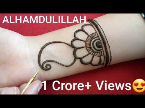 Full hand shaded Arabic Mehndi designs ||Simple /Easy mehendi designs 2019 ||मेहँदी डिजाईन