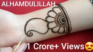 Full hand shaded Arabic Mehndi designs ||Simple /Easy mehendi designs 2019 ||मेहँदी डिजाईन