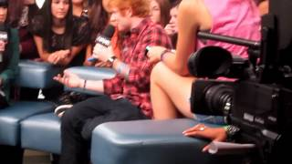 9/17/12 Toronto - Ed arriving, talking about 1D, tattoos, the Olymp...