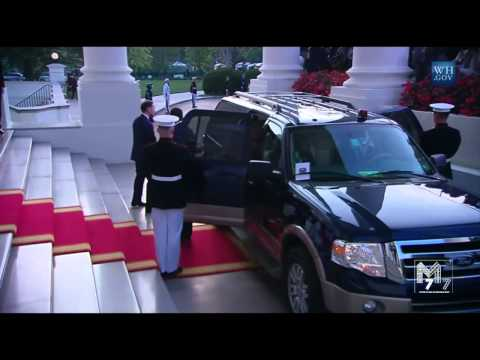 Chad President Idriss Déby  arrives at the White House Diner