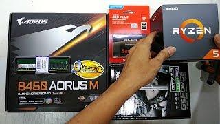 AMD Ryzen 5 2600 GIGABYTE B450 AORUS M Sandisk 120GB SSD SATA AFOX GT730 Budget Gaming RIG 2018