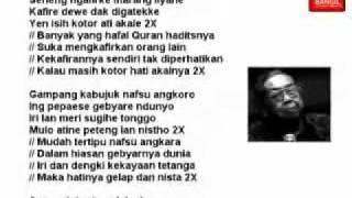 Sholawatan Gusdur (Syair Tanpo Waton) - (Astagfirullah robbal baroya) : Lirik Bahasa Jawa